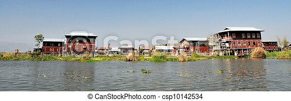 Floating village in Inle lake - csp10142534