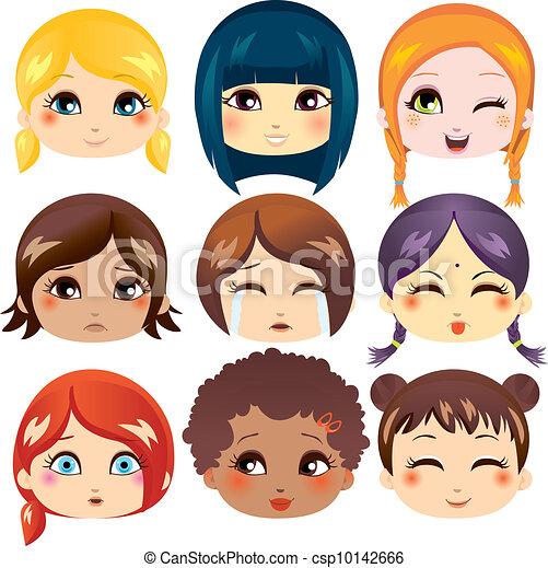 Facial Expression Collection - csp10142666