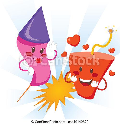 Explosive Love Fireworks - csp10142670