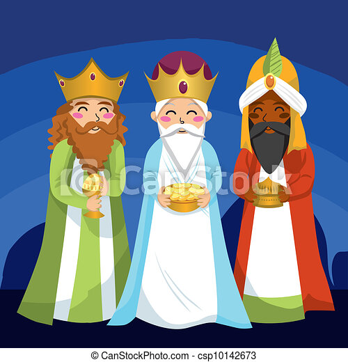 Wise Men - stock illustration, royalty free illustrations, stock clip ...