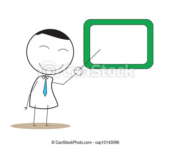 Presentation Man - csp10143096