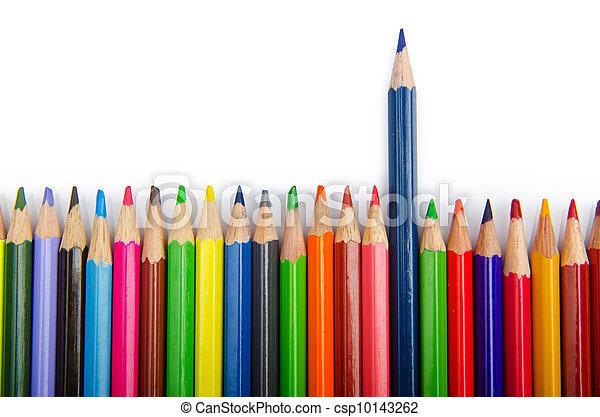 Colour pencils in creativity concept - csp10143262