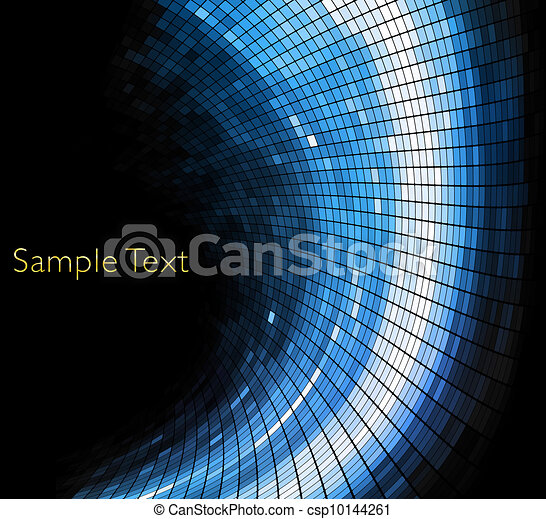 Vector geometric tech background. - csp10144261
