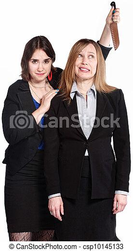 Woman Threatening Coworker - csp10145133