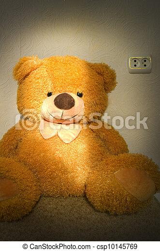 yellow fluffy bea - csp10145769