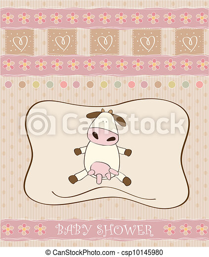 delicate baby girl shower card - csp10145980
