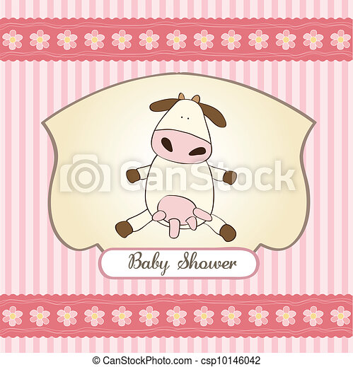 delicate baby girl shower card - csp10146042