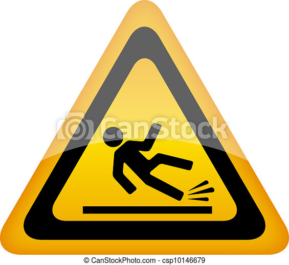 Wet floor warning sign - csp10146679