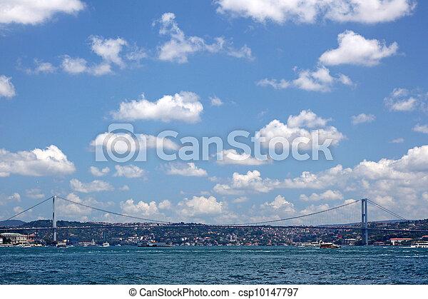 The First Bosporus Bridge connecting Europe and Asia (Turkey) - csp10147797