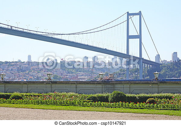 The First Bosporus Bridge connecting Europe and Asia (Turkey)  - csp10147921