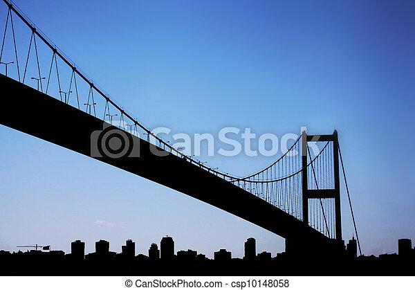 The First Bosporus Bridge connecting Europe and Asia (Turkey)  - csp10148058