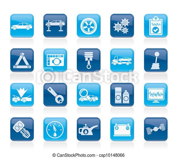 car services icons - csp10148066