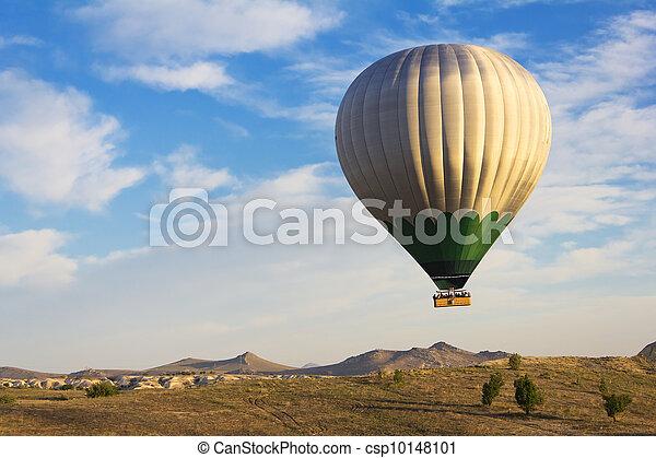 Balloon flying over Cappadocia, Turkey - csp10148101