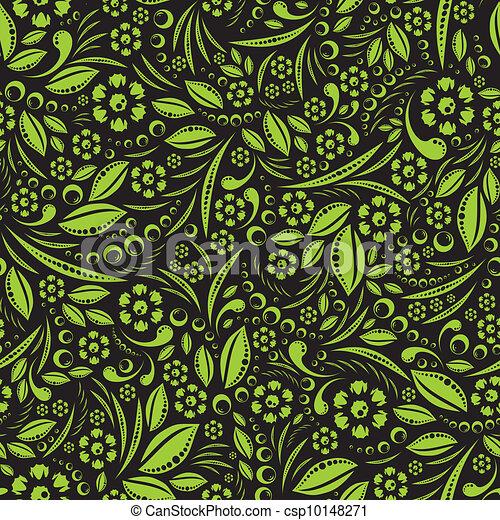 Seamless vector wallpaper. Green ve - csp10148271