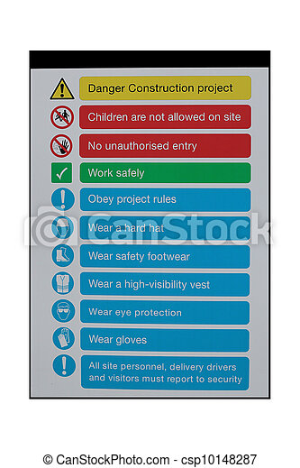 Pictures of Construction safety instructions - Construction site ...