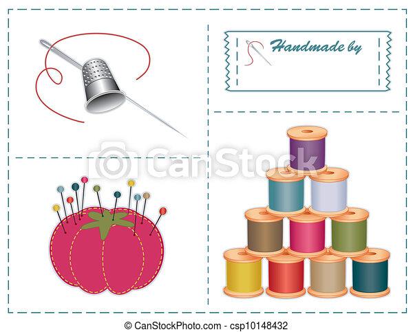 Vecteurs de accessoires couture couleurs pantone - Dessin de couture ...