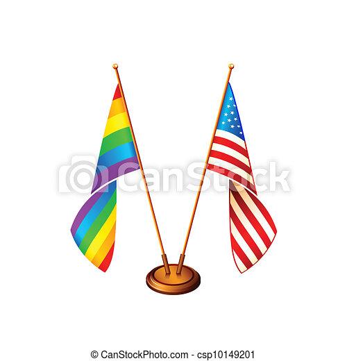 America flags - csp10149201