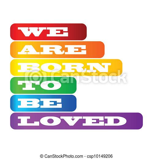 Gay pride poster - csp10149206