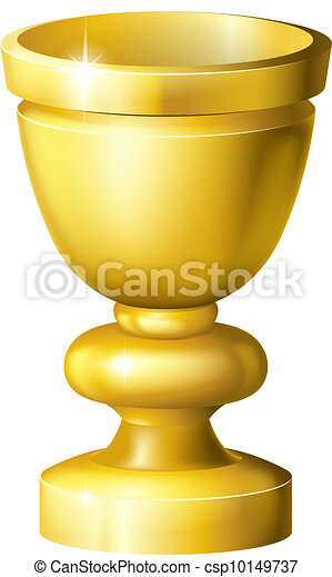 Golden cup grail or goblet - csp10149737