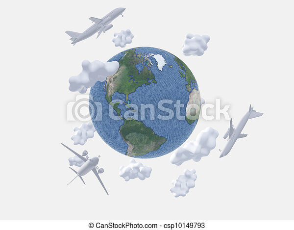 Air travel - csp10149793