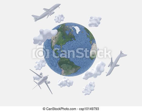 Air travel - csp10149793