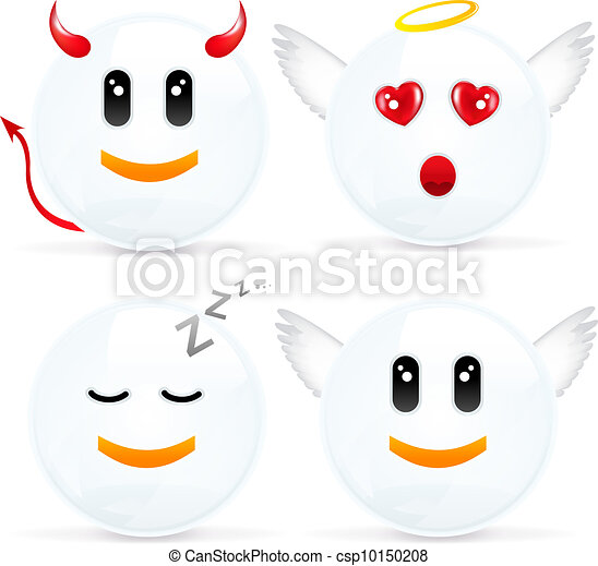 Set Of Cheerful Smiles - csp10150208
