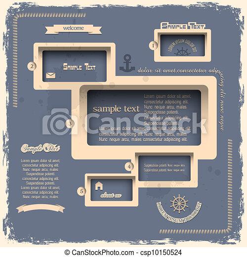 Web design template in Retro style - csp10150524