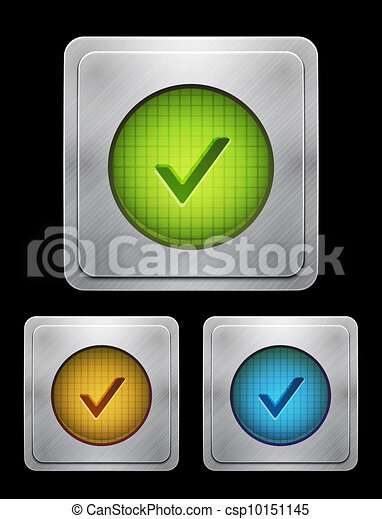 Vector tick phone button - csp10151145
