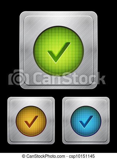 Vector tick phone button - csp10151145