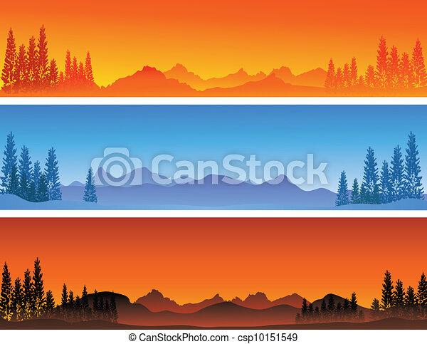 winter banner background  - csp10151549