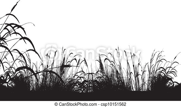 clip art vector of grass silhouette background vector Wheat Harvest Tall Tree Silhouette Clip Art