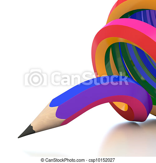 Abstract background line of colour pencil illustration - csp10152027