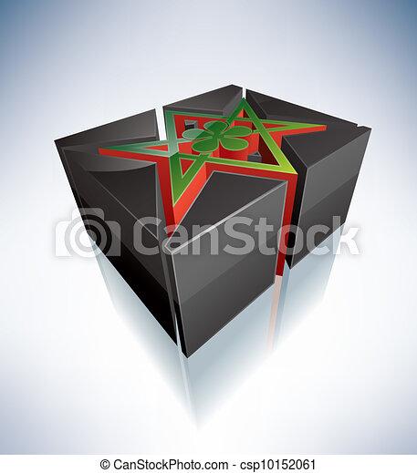 3D Religion: Thelema, Unicursal Hexagram - csp10152061