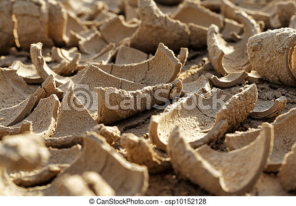 Dried mud in a drought - csp10152128