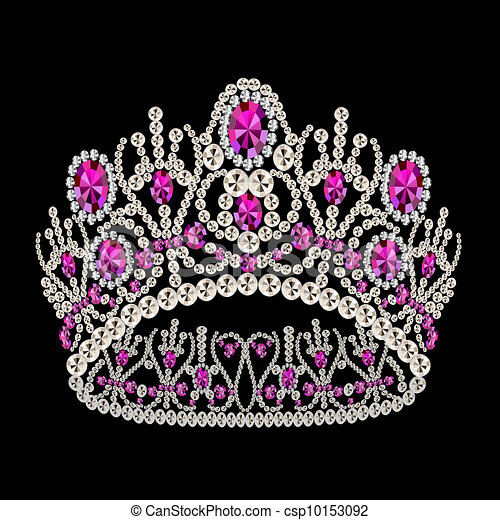 diadem corona feminine wedding with ruby - csp10153092