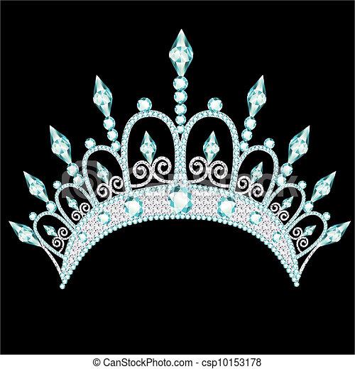diadem corona feminine wedding with light stone - csp10153178