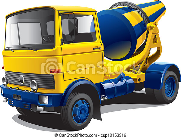 old-fashioned concrete-mixer - csp10153316