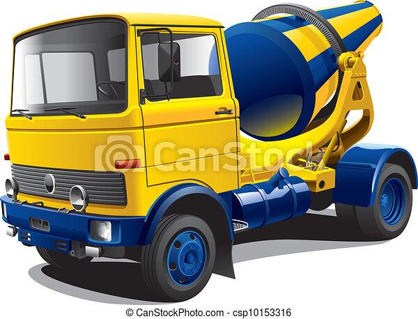 old-fashioned concrete-mixer - csp10153316