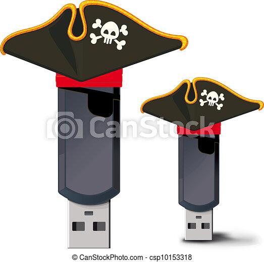 Pirate USB flash drive - csp10153318