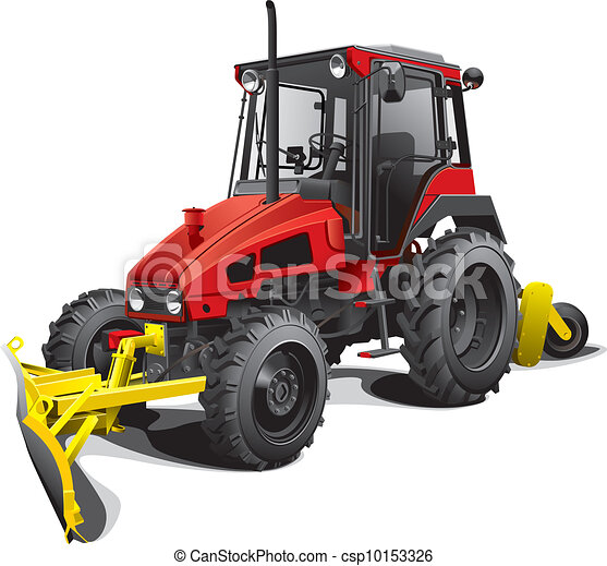 snow plow tractor - csp10153326