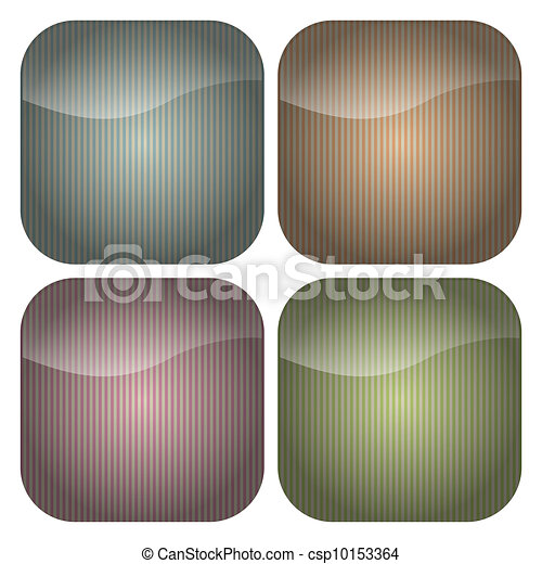Set of Rounded Square Pastel Stripes Icons - csp10153364