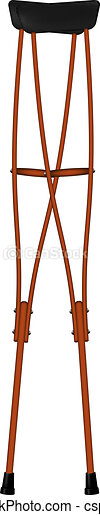 Retro wooden crutches - csp10153394