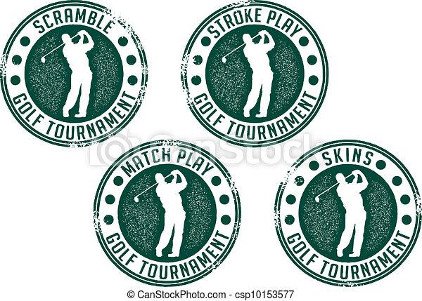 Golf Tournament Stamps - csp10153577