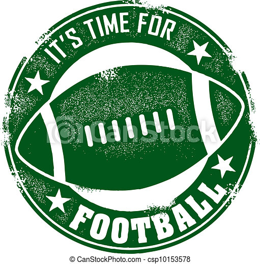 Time for Football Stamp - csp10153578