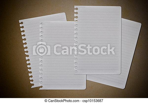 white note paper - csp10153687