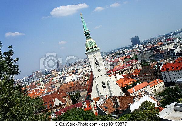 Bratislava, Slovakia - city panorama - csp10153877
