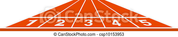 Running track - start position - csp10153953