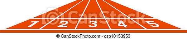Running track - start position - csp10153953