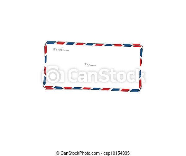 post envelope, Cover letter