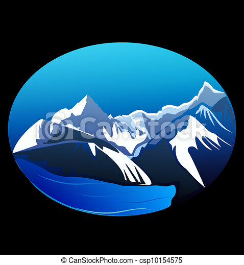Mountains and peaks vector stock - csp10154575